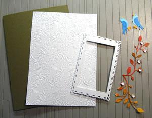 montage carte avec frame Romantic Rectangle