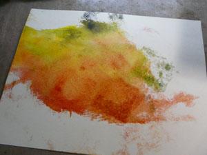 Distress ink tecnic