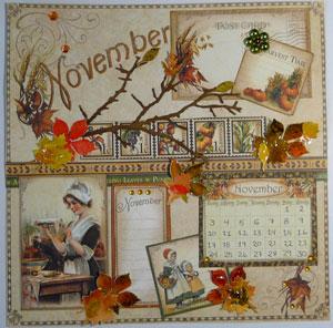 Calendrier graphic 45 mois Novembre