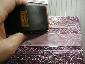 sablé le papier métallique Spellbinders