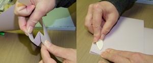 montage de carte de souhaits scrapbooking