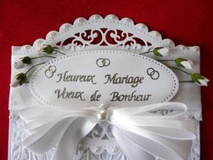 carte de mariage scrapbooking