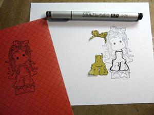 carte avec paper piecing