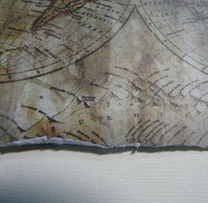 papier usé vieilli en scrapbooking