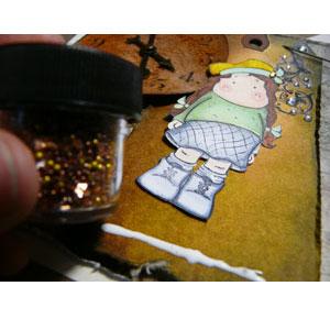 Art glitter projet scrapbooking