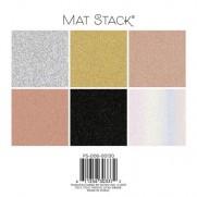 """DCWV Cardstock pad 6""""X6"""" Glitter Métalliques"""