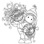 Étampe Magnolia Tilda avec un gros bouquet