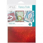 "Gina K Designs Fancy Foil 6""X8"" Rouge radiant"