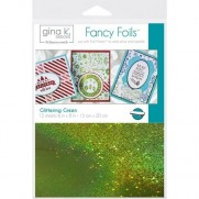 "Gina K Designs Fancy Foil 6""X8"" Vert brillant"