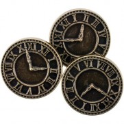 Steampunk Buttons Horloges or