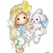 Étampe Magnolia Tilda avec Inez le lapin