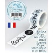 Leane Creatief Washi Tape Mots en Français