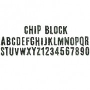 Sizzix Decorative Strip Chip Block Alphabet Découpe