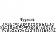 Sizzix Decorative Strip Typeset Alphabet Découpe