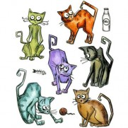 Sizzix Die Framelits Crazy Cats