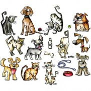 Sizzix Die Framelits Mini Crazy Cats & Dogs