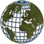 Sizzix Thinlits Die Paper Mini Globe