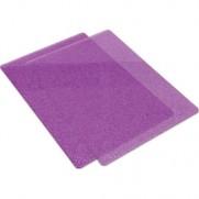 Sizzix Cutting Pads (2) Violet avec glitter