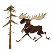 Sizzix Thinlits Die - Merry Moose