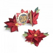 Sizzix Thinlits Die - Carte pliable Poinsettia