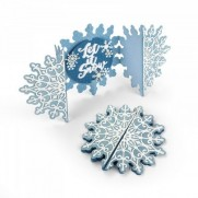 Sizzix Thinlits Die - Carte pliable Flocons