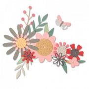 Sizzix Die Thinlits Flore audacieuse