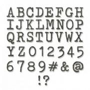Sizzix Die Thinlits Lettres majuscules & Nombres petits