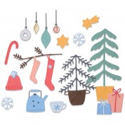 Sizzix Die Thinlits Acclamations de Noël