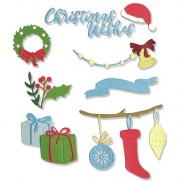 Sizzix Die Thinlits Décorations de Noël