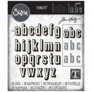 Sizzix Die Thinlits Alphanumérique minuscule avec ombrage