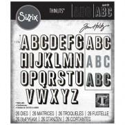 Sizzix Die Thinlits Alphanumérique majuscule avec ombrage