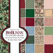 """Bo Bunny Pad 12"""" X 12"""" Trésors de Noël"""