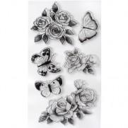 BoBunny Étampe Papillions & Roses