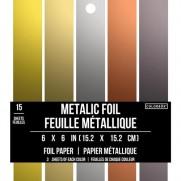 """Colorbok Designer Collection 6""""X6"""" Métallique"""