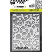 Carabelle Studio Plaque Embossage Rouages