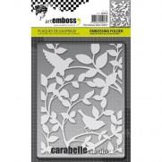 Carabelle Studio Plaque Embossage Des Oiseaux Dans L'arbre