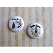 Herazz Badges Joyeux Noël Bonne Année