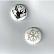 Herazz Badges Flocon & Chevreuil