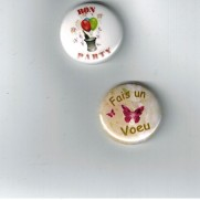 Herazz Badges Fais un voeu - Bon Party