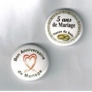 Herazz Badges Anniversaire de Mariage 5 ans