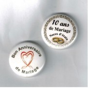 Herazz Badges Anniversaire de Mariage 10 ans