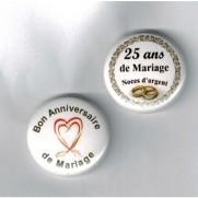 Herazz Badges Anniversaire de Mariage 25 ans