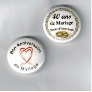 Herazz Badges Anniversaire de Mariage 40 ans
