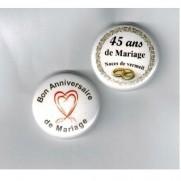 Herazz Badges Anniversaire de Mariage 45 ans