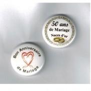 Herazz Badges Anniversaire de Mariage 50 ans