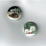 Herazz Badges Train de Noël