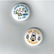 Herazz Badges Né pour camper