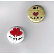 Herazz Badges Mon Valentin Je t'aime