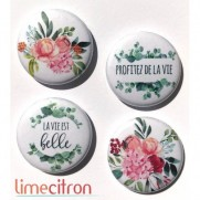 Limecitron Badges La vie est belle