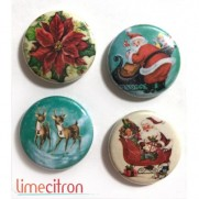 Limecitron Badges Poinsettia